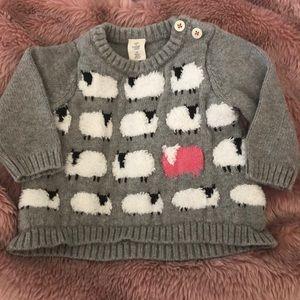 EUC Tucker + Tate Intarsia Knit Sheep Sweater
